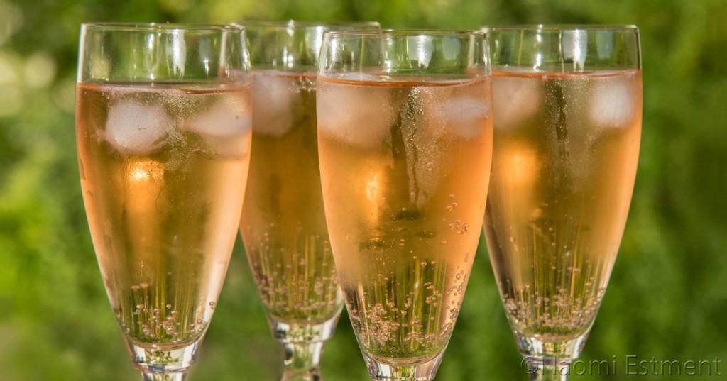 Rose Champagne in Glasses