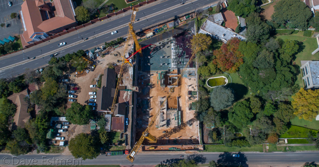 Aerial Photograph of Construction in Progress