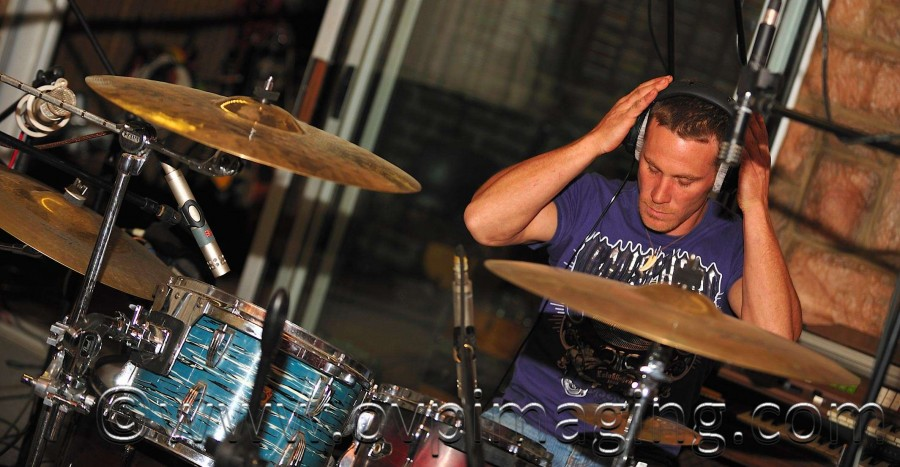 Scott Hartman on drums