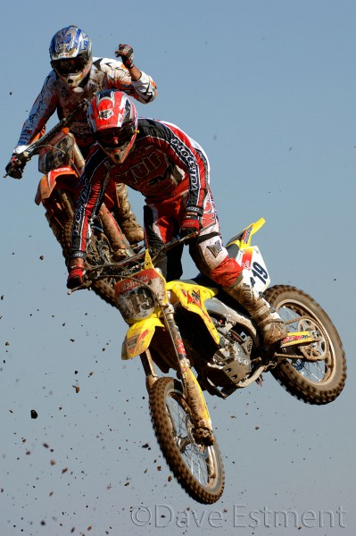 Motocross Riders in Action