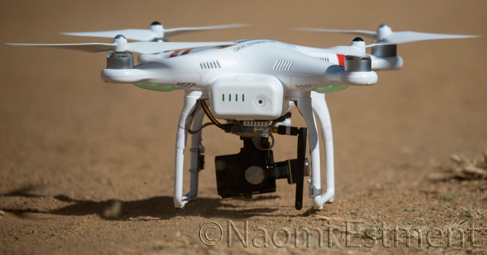 Unmanned Aerial Drone Taking Off