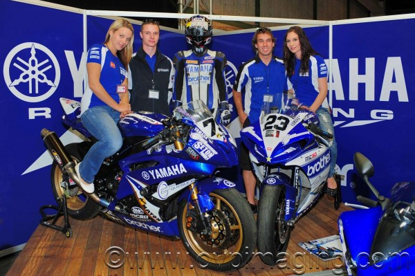 Yamaha riders & promo ladies at AMiD Expo 2013
