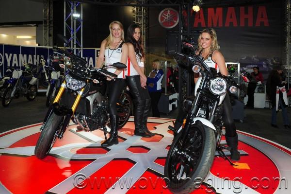 Yamaha motorcycles & lovely ladies