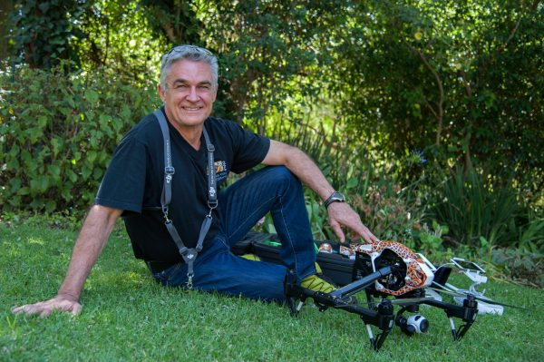 Dave Estment with DJI Inspire Drone