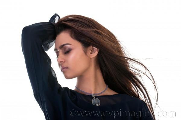 Studio photo of beautiful model