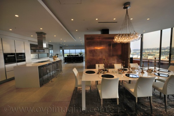 Penthouse Dining Area at Katherine & West