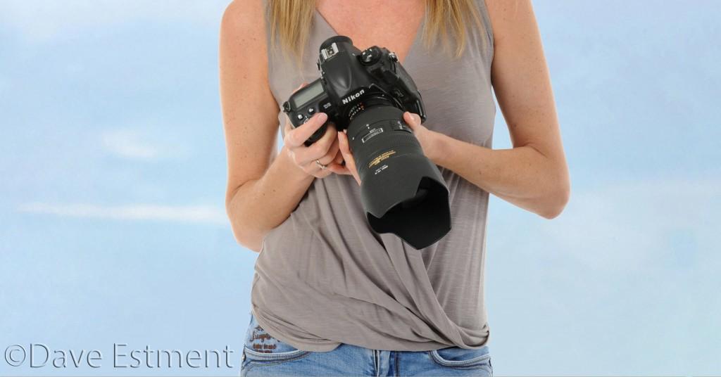Naomi Estment with Nikon Camera