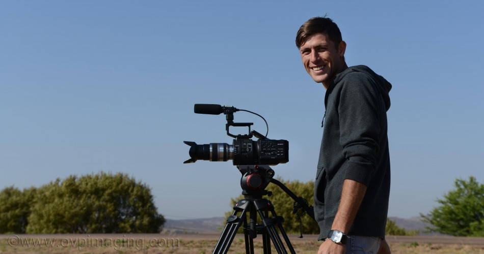 Videographer Reinhardt Vermeulen with Sony Camera